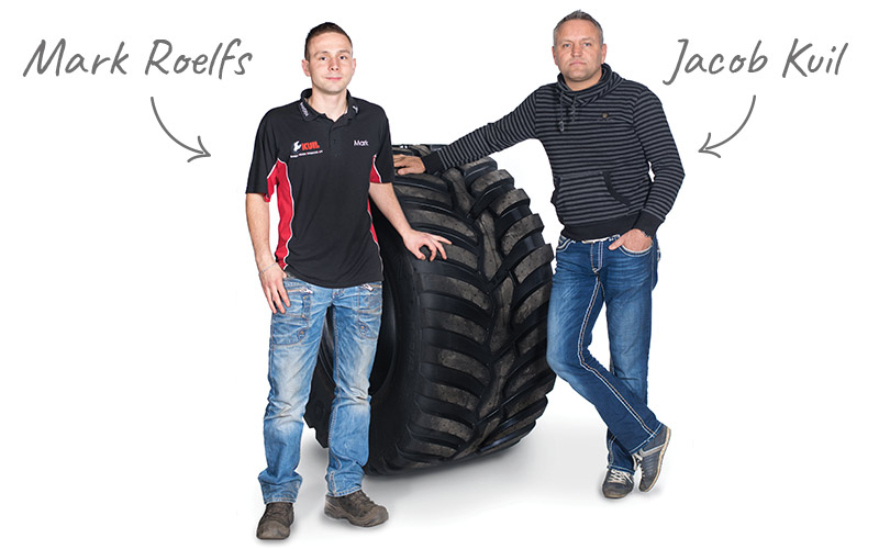 Bandenspecialisten Jacob en Mark